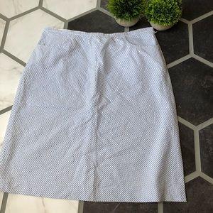 Ann Taylor seersucker a-line skirt.